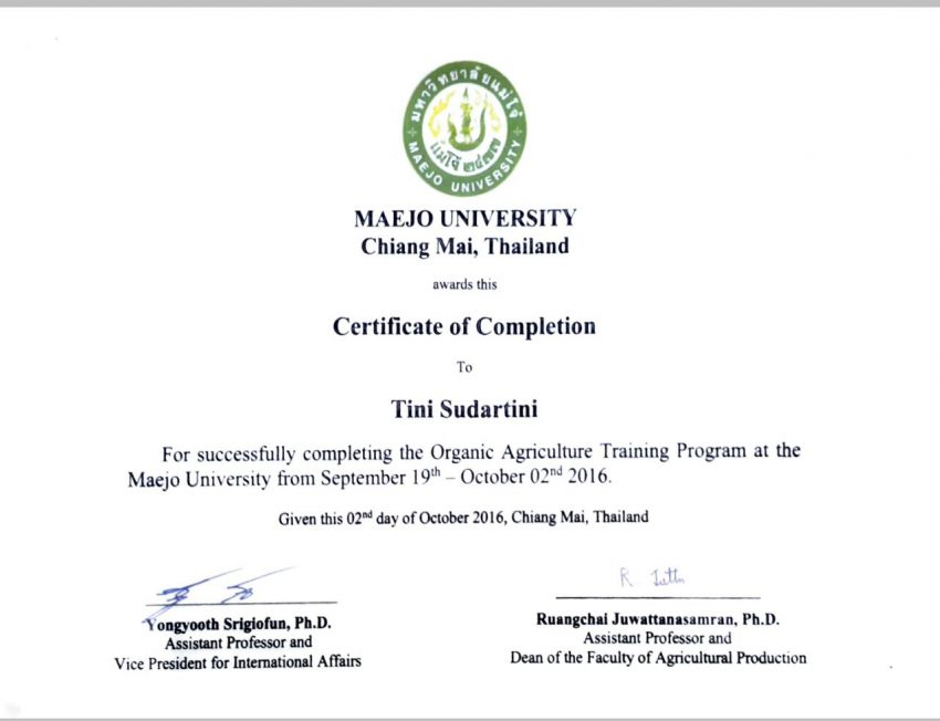 Dosen Agroteknologi Ikuti Short Course Organic Farming di Thailand